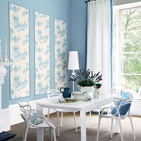 Pretty pale blue dining room dining room - Pretty green rooms ...
