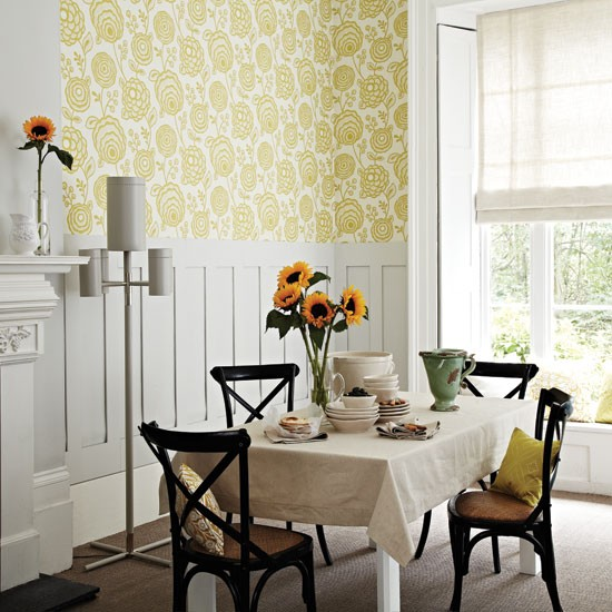 warm patterned dining room dining room