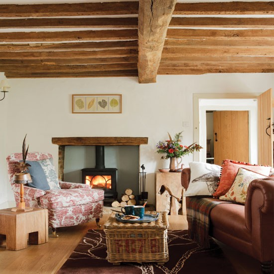 Cosy country living room living room for Living room ideas cosy