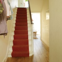 Hallway with stair runner