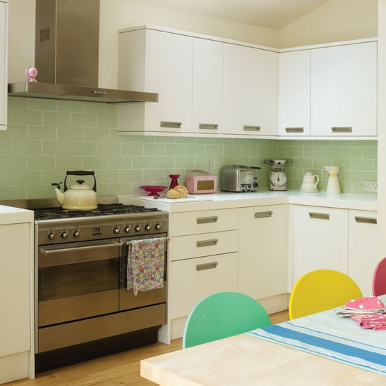 Retro inspired kitchen kitchen for Vintage kitchen units uk