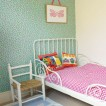 Pretty patterned girl&#039;s bedroom 