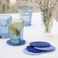 Make these coasters outside on a sunny day and the warmth will mean the glue dries more quickly