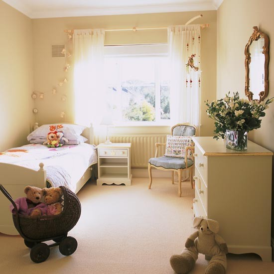Elegant neutral bedroom | Girls' bedroom schemes | Childrens' bedrooms| bedroom | PHOTO GALLERY | 25 Beautiful Homes | Housetohome