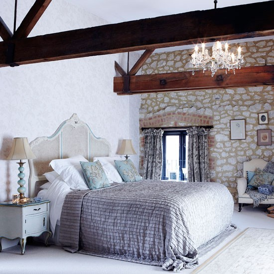 Elegant Soft Blue Bedroom Bedroom