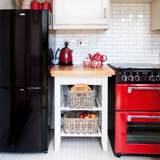 Retro kitchen with mini cooker | Kitchen | Beautiful Kitchens | IMAGE | Housetohome.co.uk