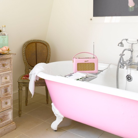 Pink roberts radio | Family bathroom ideas - 10 of the best | bathroom | PHOTO GALLERY | Housetohome