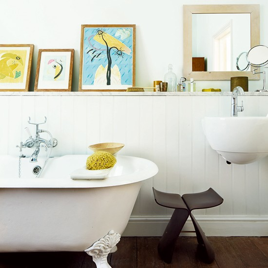 Group Paintings To Create A Display Family Bathroom Ideas