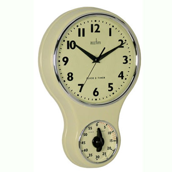 acctim kitchen wall clock and timer from homebase wall clocks 10