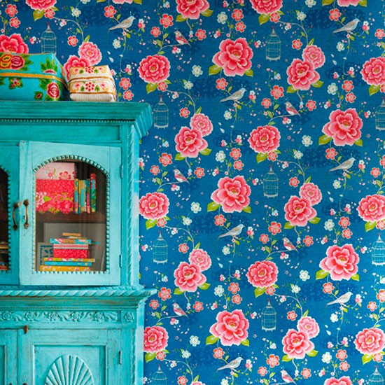We love Pip Studio's bright floral wallpaper from John Lewis