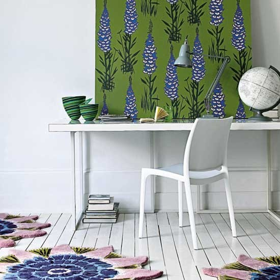 Floral home office | Modern home offices | Home office schemes | Contemporary home offices | SEE PHOTO GALLERY | Livingetc