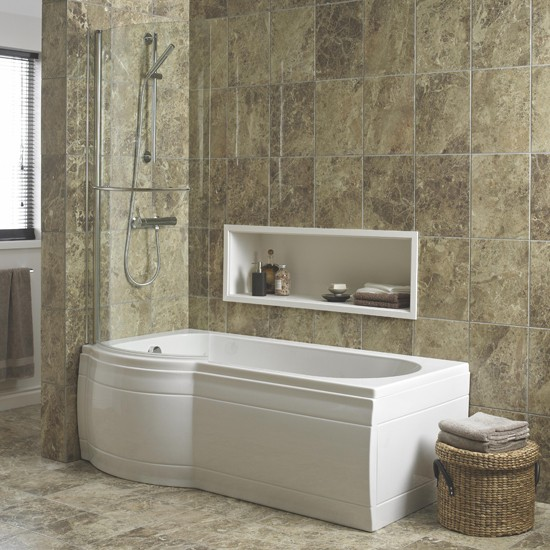 adelphi curved shower bath by cooke amp lewis at b amp q shower baths housetohome co uk