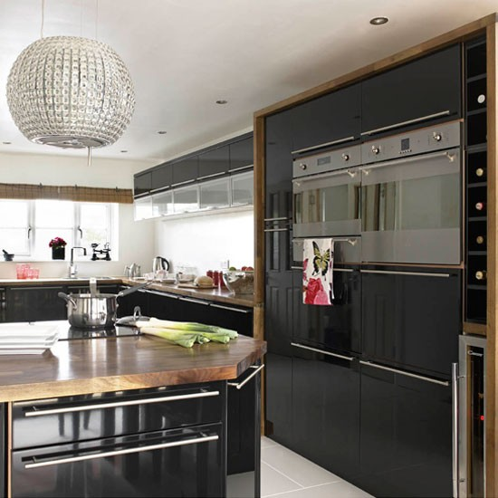 Be Inspired By This Contemporary Black Gloss Kitchen