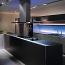 SieMatic's chromotherapy lighting can be set to one shade or rotate through the colour spectrum. Shown as part of the S1 kitchen, which costs from £50,000, it 