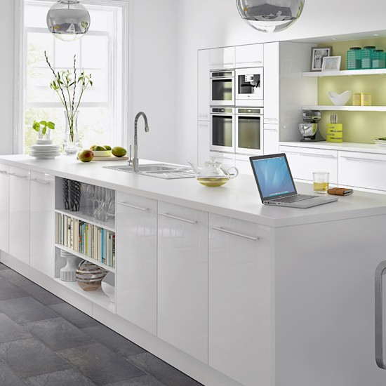 White gloss kitchen from B&Q | Budget kitchens | Kitchens | PHOTO GALLERY | Housetohome