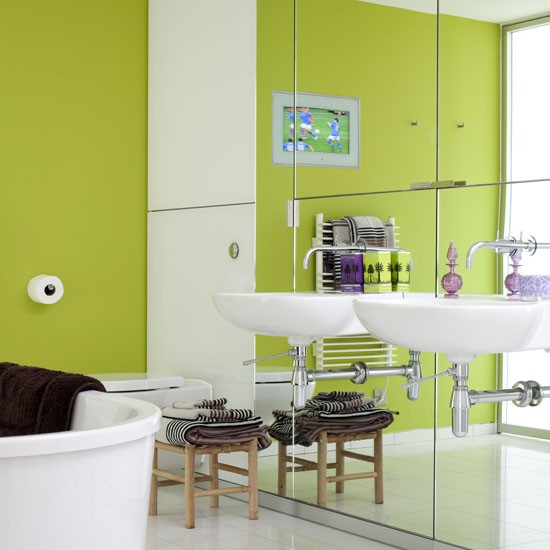 Bold Splash Of Colour Bathroom Colour Schemes