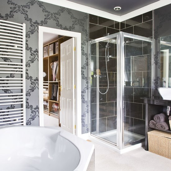 Wallpapered Bathroom Bathroom Colour Schemes