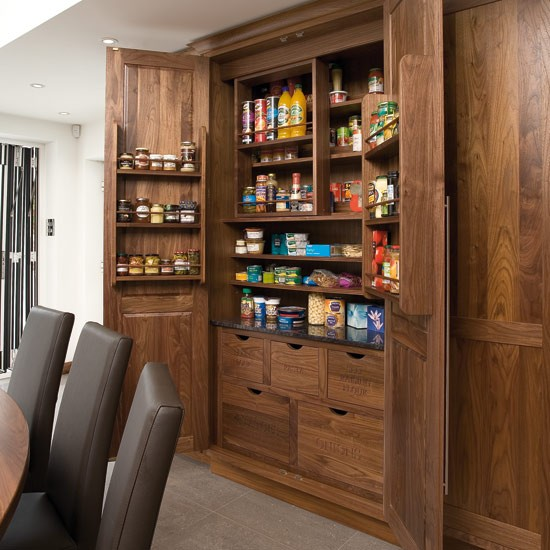 Built In Kitchen Pantry Ideas: Take A Tour Around A Walnut And Sycamore