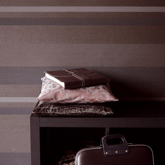 Papel de parede listrado de Meallic Eijffinger | papel de parede listrado | idéias Parede | Destacar papel de parede | Housetohome