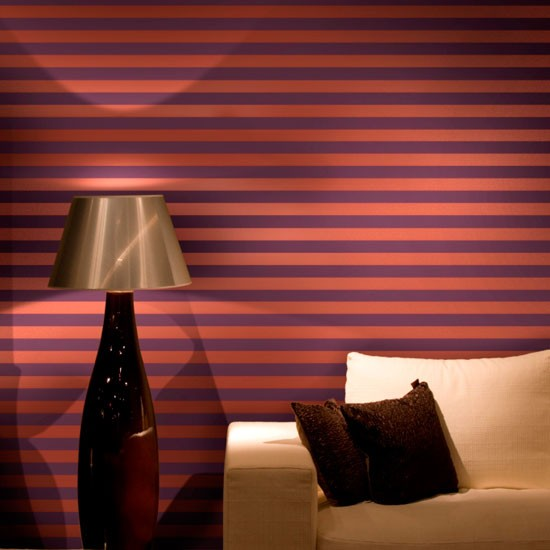 Striped wallpaper fom Cole and Son | idéias Wallpaper | papel de parede Recurso | papel de parede colorido | Housetohome