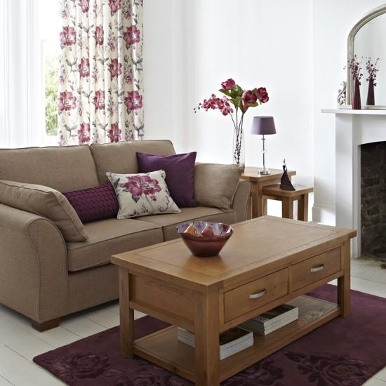 96%7C0000113ef%7C9457 orh550w550 Dunelm MIll plum Caterina living room Living room decorating ideas