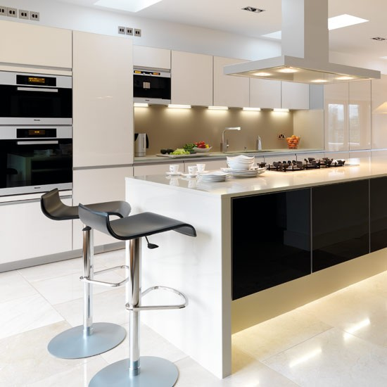 Contemporary kitchen  Take a tour around a sleek contemporary kitchen ...
