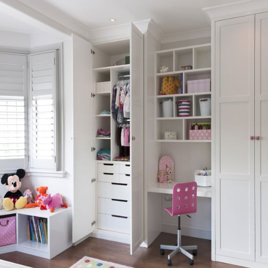 Fitted children 39 s storage and wardrobes from inhouse for Bedroom built in wardrobe designs