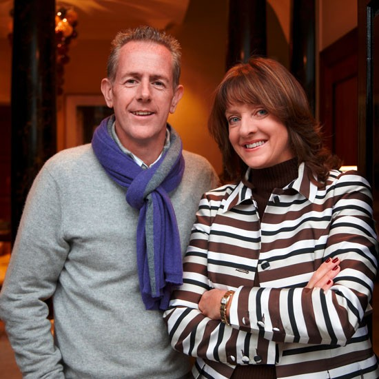 Leading garden designer Stephen Woodhams and interior designer Joanna Wood