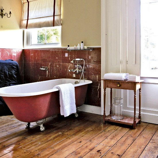 Warm and rich bathroom | Bathroom designs | Bathroom flooring | Housetohome
