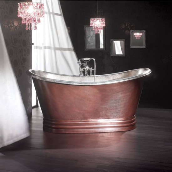 Copper bath from boundary bathrooms freestanding baths for Boundary bathrooms