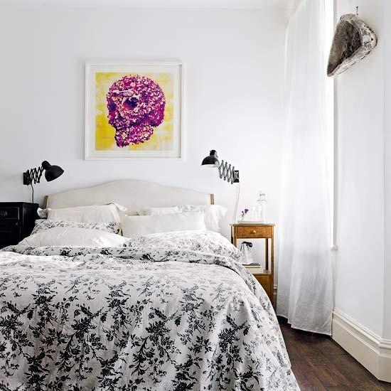 White bedroom | Modern bedroom design | Monochrome bedroom | Housetohome