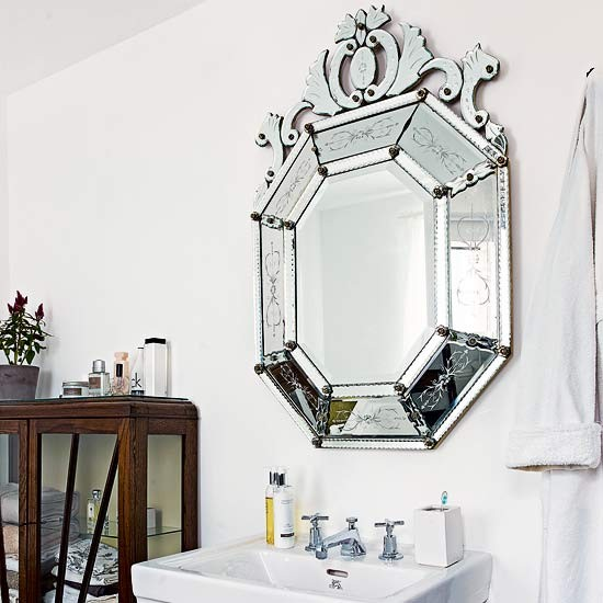 Vintage white bathroom | Bathroom designs | Bathroom mirror | Housetohome