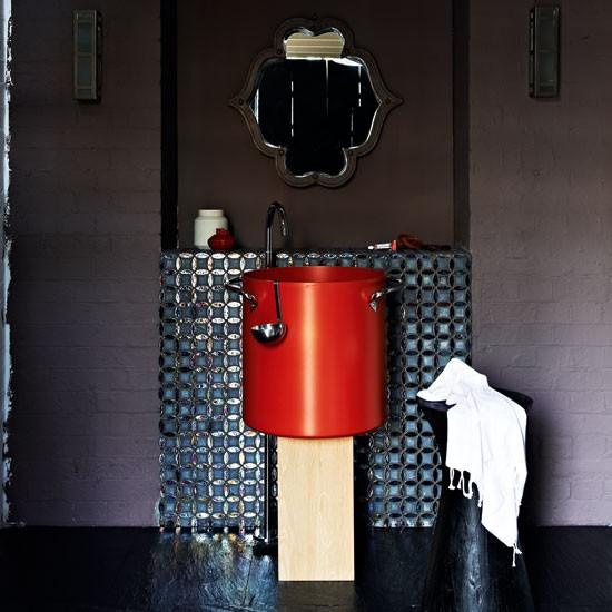 Dramatic bathroom bathroom paint colours for Dramatic bathroom designs