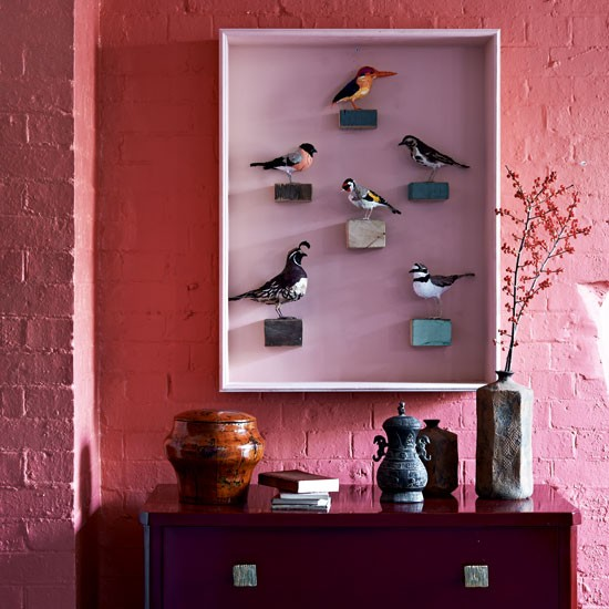 Bold hallway display | Hallway designs | Hallway paint colours | Housetohome