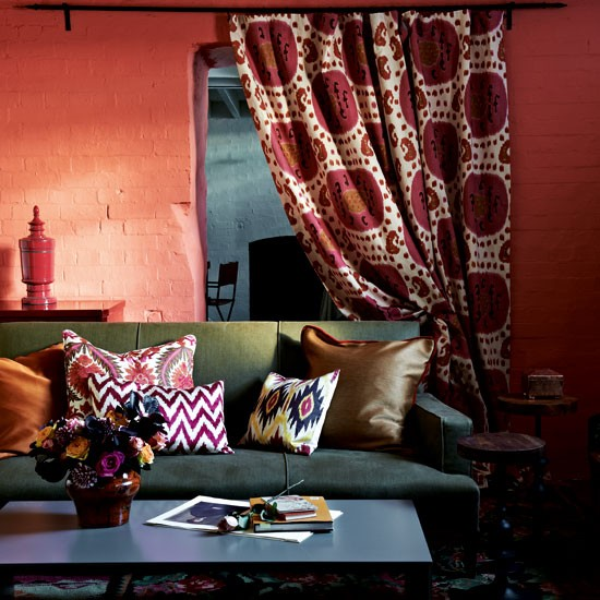Red living room | Living room colour | Living room designs | Housetohome