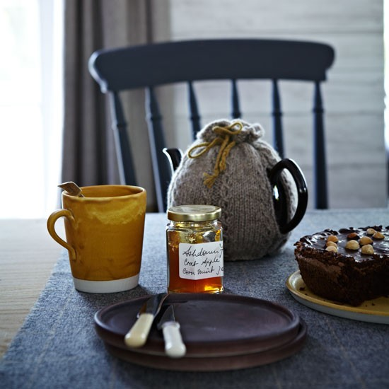 Earthy toned ceramics on a wool tablecloth   Design ideas   Housetohome   PHOTOGALLERY