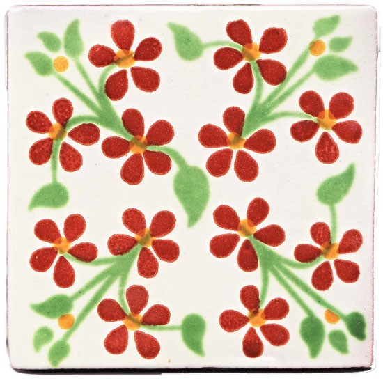 Violets tile from Milagros | bathroom tiles | country | Country Homes & Interiors