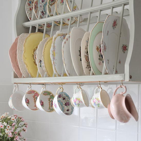 Vintage kitchen storage with vintage china | Vintage-style home | easy decorating ideas | design ideas small homes | PHOTO GALLERY | Style at Home | Housetohome