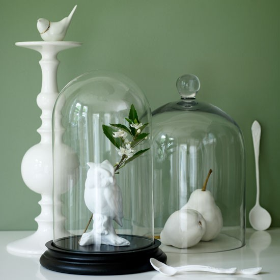 Ceramic ornaments displayed under glass on a cabinet | Design ideas | Housetohome | PHOTOGALLERY