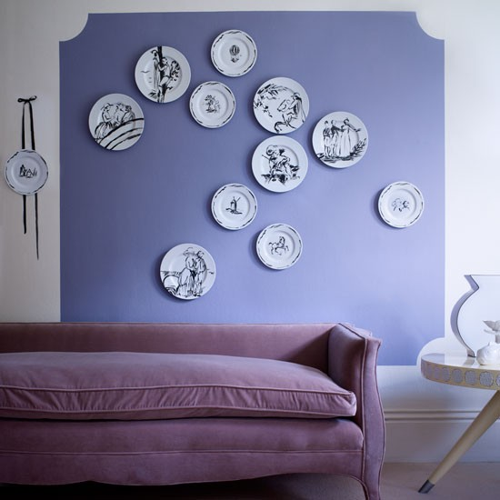 Collection of ceramic plates displayed on a living room wall | Design ideas | Housetohome | PHOTOGALLERY