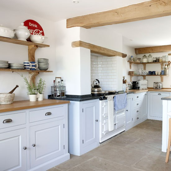 Mix cupboards and shelves | kitchen storage | country | Country Homes & Interiors