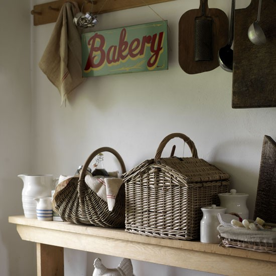 Fill baskets and bowls | kitchen storage | country | Country Homes & Interiors