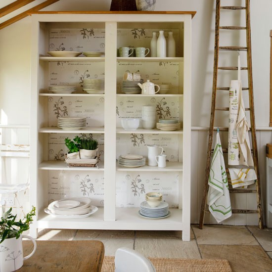 Decorate a shelf unit | kitchen storage | country | Country Homes & Interiors