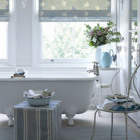 Choose fabrics in country colours | country bathroom | Country Homes & Interiors