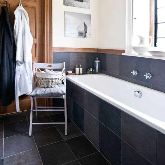 Opt for pared-down style | country bathroom | Country Homes & Interiors