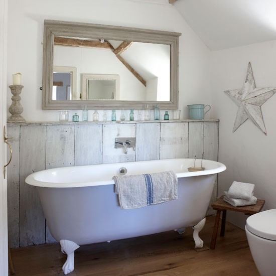Use paint for a rustic effect | country bathroom | Country Homes & Interiors