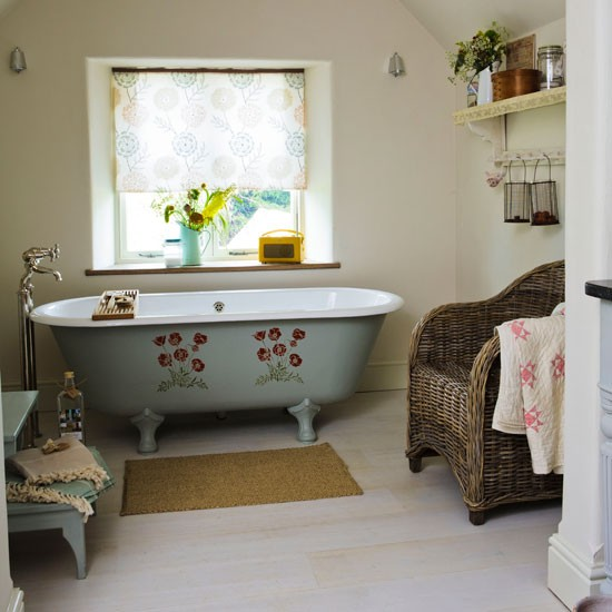 Bring in pattern | country bathroom | Country Homes & Interiors