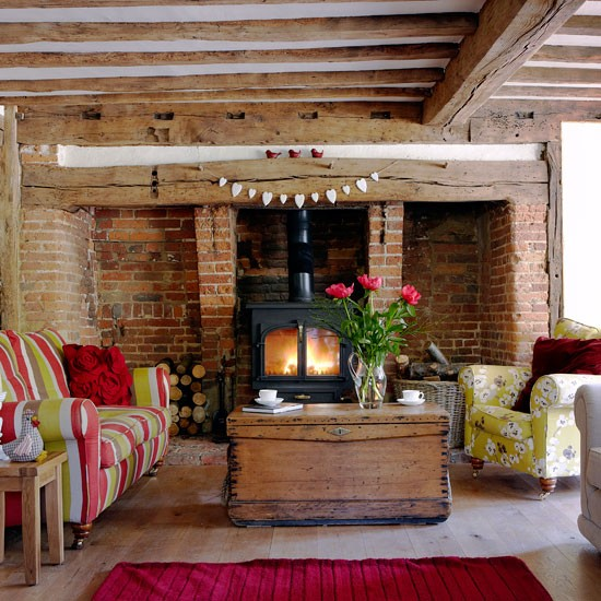 living room real homes a cosy cottage in kent