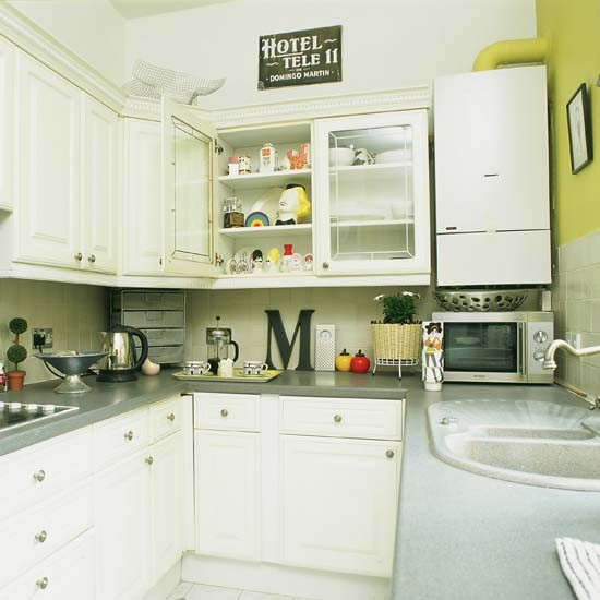 Beautiful Small White Kitchens Small White Kitchen With Lime Feature