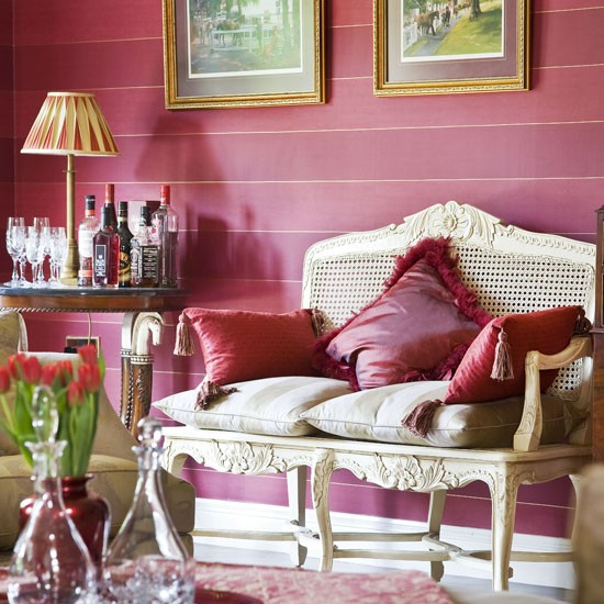 How to add colour to your living room colourful living for Bright wallpaper for living room
